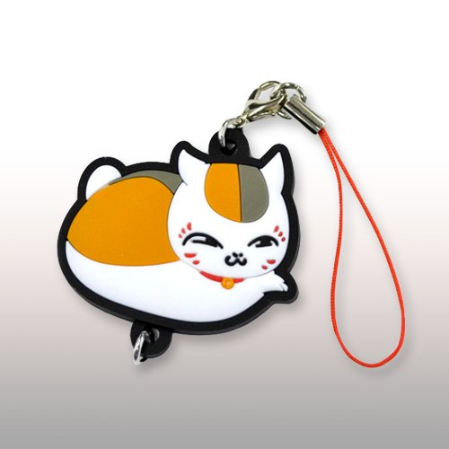Natsumes Book of Friends Nyanko Sensei rubber strap vol.2 (pud) (japan import)