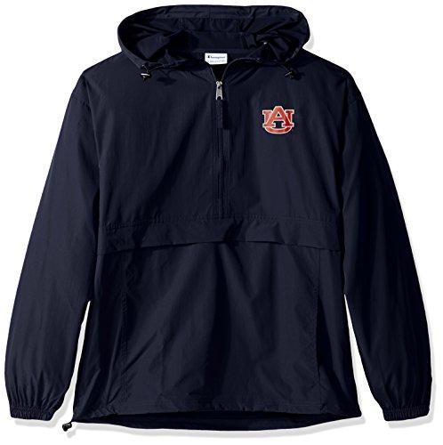 Champion NCAA Men's Half Zip Front Pocket Packable Jacket Auburn Tigers Medium ()