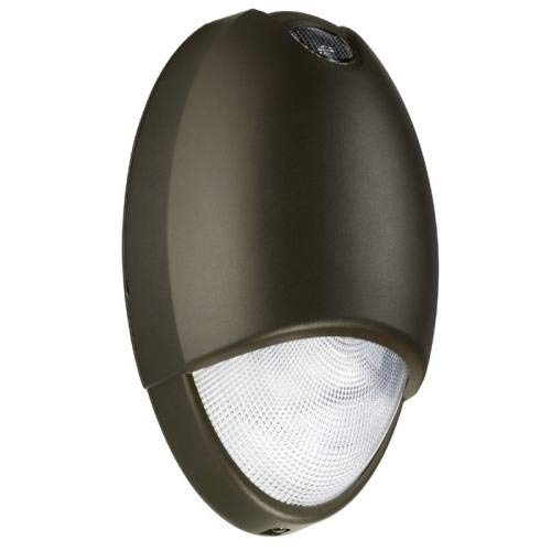 Outdoor Decorative LED Emergency Lighting Tear Drop Design with Die Cast Aluminum housing, Self-Diagnostic Test Feature, Durable Powder-Coated Dark Bronze Finish by Lime lighting
