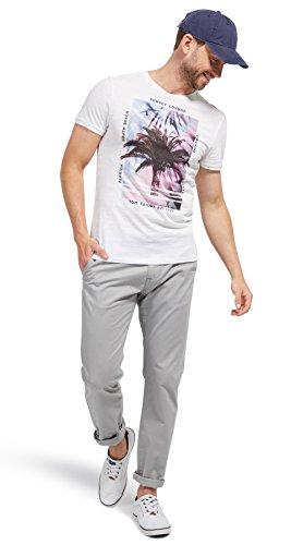 Tom Tailor für Männer T-Shirt T-Shirt mit Foto-Print white XXL