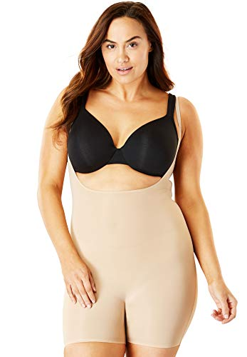 Comfort Choice Women's Plus Size Light Control Body Shaper by Secret Solutions - Nude, 34/36