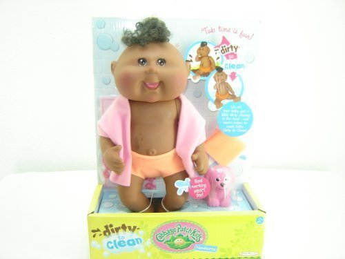- Cabbage Patch Kids Dirty to Clean Newborn Doll - African American - Girl
