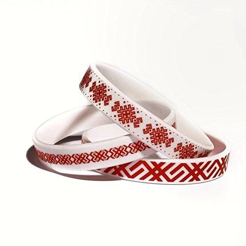 BELCO Set of 3 patriotic Belarus bracelets souvenir wristbands with unique historic national design