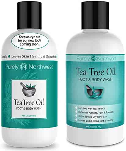 Antifungal Tea Tree Oil Body Wash, Helps Athletes Foot, Ringworm, Toenail Fungus, Jock Itch, Acne, Eczema & Body Odor- Soothes Itching & Promotes Healthy Feet, Skin and Nails 9oz