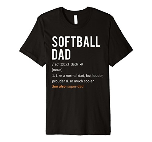 (Softball Dad Shirt - Fathers Day Gift T-Shirt Son Daughter)