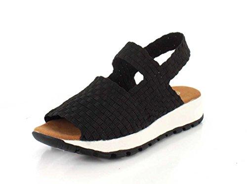 BERNIE MEV - Zapatillas para Deportes de Exterior para Mujer Negro Negro 39 Negro