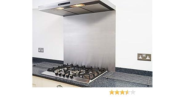 Fire Door Guru® - Tapa de acero inoxidable satinado para campana de cocina, 600 x 500 mm, 1,2 mm de grosor, fácil de instalar: Amazon.es: Hogar