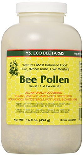 Bee Pollen - Low Moisture Whole Granulars YS Eco Bee Farms 16 oz Granular (Pollen Bee Granules)