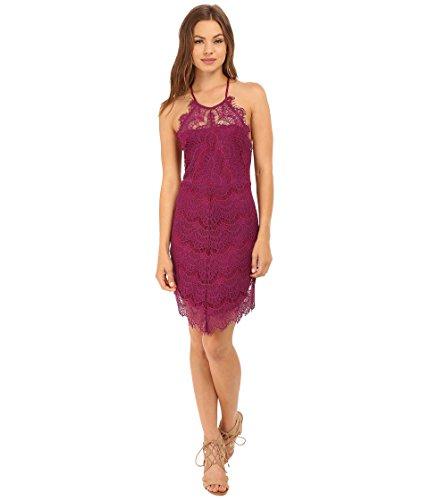 Free People Womens Juniors She's Got It Lace Back Buttons Slip Dress Purple XS