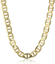 Men's 10k Yellow Gold 4.2mm Flat Mariner Chain Neck