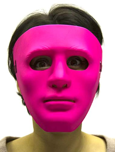[HMS Men's Gonzo Mask Blacklight, Fluorescent Pink, One Size] (Gonzo Adult Costumes)