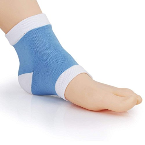 Cracked Heel Treatment - Heel Socks - Cracked Heels - Gel Socks - Moisturizing Socks - Callus Feet - 2 Pairs - Ballotte by Ballotte (Image #1)