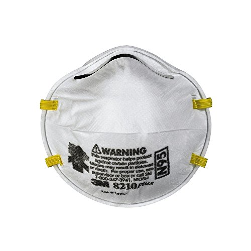 3m 8210 plus n95 particulate respirator mask box of 20