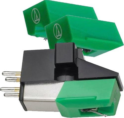 Audio-Technica Dual Magnet Phono Cartridge (AT95E)with 2 replacement styli ATN95E