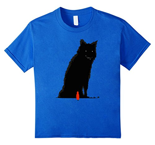 Kids BIG Bad Wolf and LITTLE Red T-Shirt- Easy Halloween Costume 8 Royal Blue