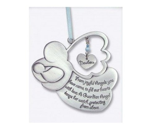 Sweet GUARDIAN ANGEL Baby BOY Crib Medal 4