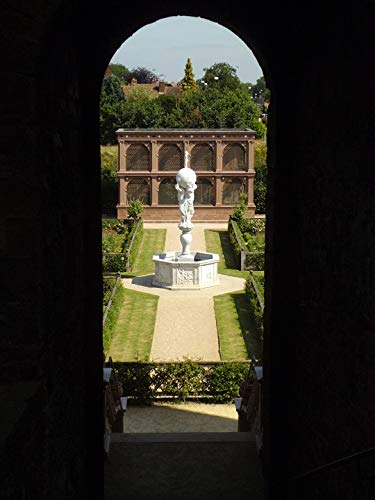 Home Comforts Canvas Print Atlas Fountain Kenilworth Castle Elizabethan Garden Vivid Imagery Stretched Canvas 32 x 24