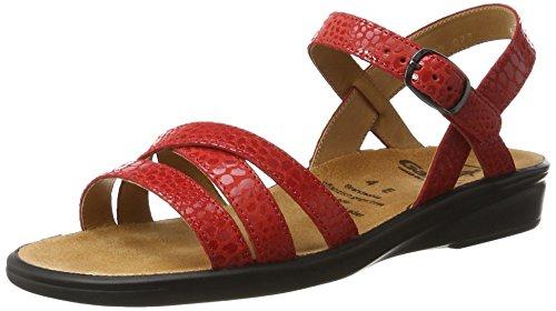 Ganter Sonnica-e, WoMen Open Toe Sandals Red
