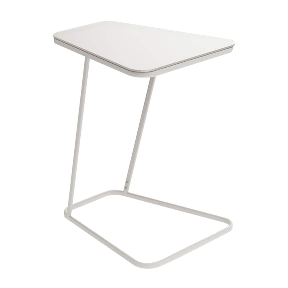 C Laptop Table Side Table Coffee Table Living Room Sofa Side Table Bedside Table Wrought Iron Tempered Glass, 52  45  61cm (color   A)
