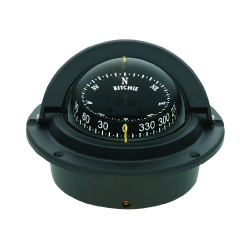 - Ritchie Navigation Voyager Compass 3-Inch Dial with Flush Mount (Black)