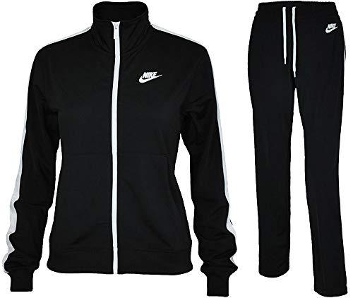 - NIKE Women's Sportswear Tracksuit (XL, Black/White/Black/White)