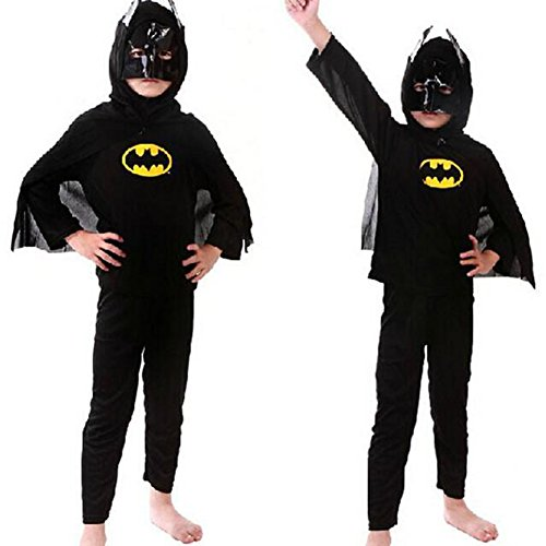 Toddler Three Piece Batman Costume (5/6 - Medium)