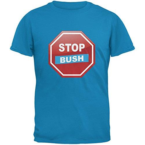 Election 2016 Stop Bush Sapphire Blue Adult T-Shirt - X-Large (Stop Bush T-shirt)