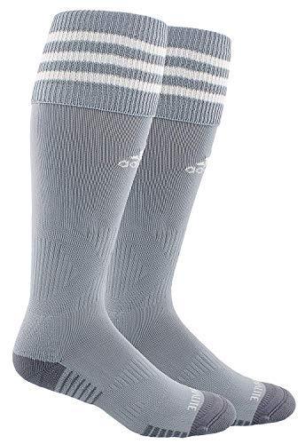 Adidas Copa Cushion III Over The Calf Soccer Socks (Small, Light Grey/White)