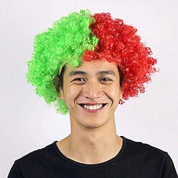 Amazon.com: Bandera Color Pelucas sintéticas pelo corto ...