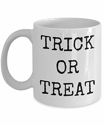 Happy Halloween Ceramic Coffee Mug Trick or Treat Funny Cup Gift Idea All Hallow Eve Work Office Party Celebrate in Style for Him or Her 31 October]()