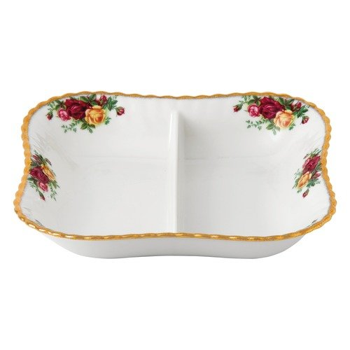 Royal Albert Old Country Roses 2 Part Divided Server, Multicolor