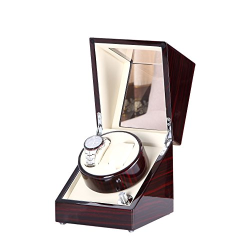 [New Arrival] Love Nest Handmade Double 2pcs Watches Watch Winder with Quiet Mabuchi Motor(Power Included)