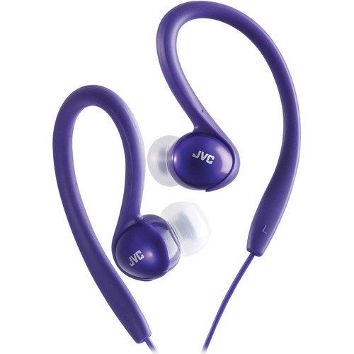 JVC HAEBX5V Sport Clip Headphone, Violet Inner Ear Clip Headphone