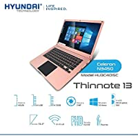 Hyundai Laptop THINNOTE CELERON N3450 4GB RAM SSD 32GB Pantalla 13.3 (Rose Gold)