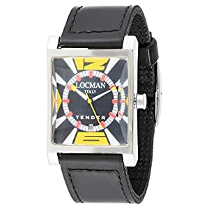 Locman Men's Black Dial Synthetic Band Watch - 247461