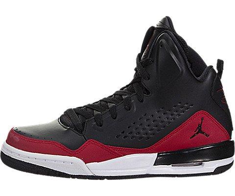 Jordan Kids SC-3 GS Black Black Gym RED White Size 6 (Air Jordan 5 Fire Red Black Tongue 2013)