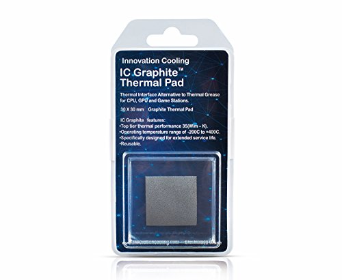 Innovation Cooling Graphite Thermal Pad - Alternative to Thermal Paste/Grease (30 X 30mm) (Best Pc Thermal Compound)
