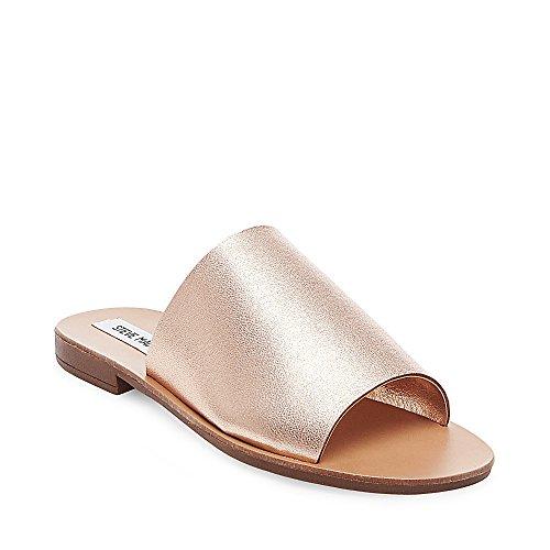Steve Madden - Sandalias de vestir para mujer oro rosa