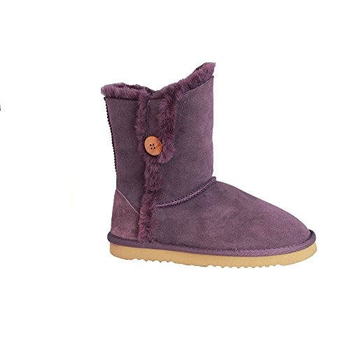 Counties Femme Mouton Lacey Pourpre Bottes De Leather Eastern En Peau wqp6wv