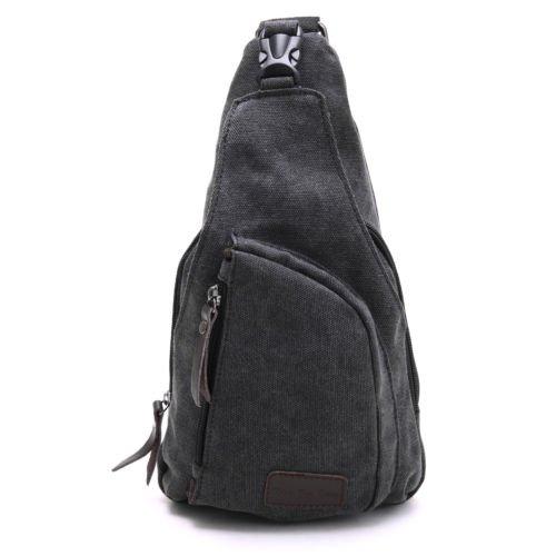 The Pecan Man Black Men Vintage Canvas Messenger Shoulder Bag Chest Bag Backpack Icon Squad Backpack