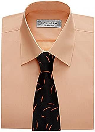 Dymastyle - Camisa formal - para hombre Salmón 38: Amazon.es: Ropa y accesorios