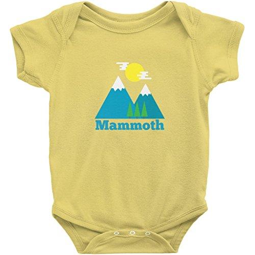 Mammoth, California Bluebird Mountain - Unisex Infant Baby Onesie/Bodysuit (Unisex (11),) Yellow