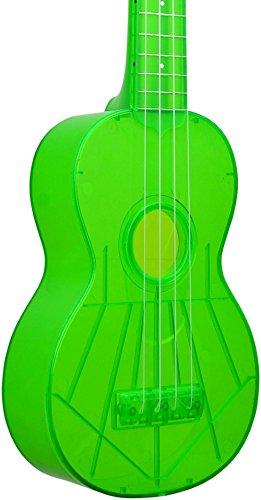 Kala KA-SWF-GN Waterman Soprano Ukulele - Fluorescent Green