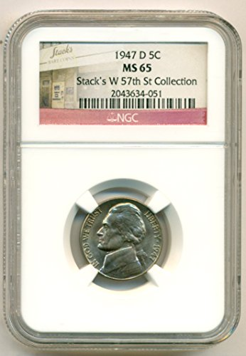 1947 D Jefferson Nickel MS65 NGC