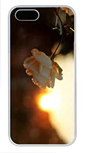 for cheap covers flower bud sunset PC White Case for iphone 5/5S