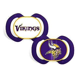 Baby Fanatic 2 Piece Pacifier Set, Minnesota Vikings