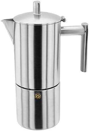 Stellar - Cafetera espresso (4 tazas, 250 ml, acero inoxidable, 12 ...