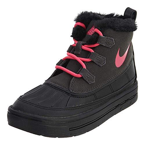Nike Little Kids Boots Woodside Chukka 2 Anthracite/Black/Hyper Pink 859426-001 (13.5 M US) (Kids Nike Boots)