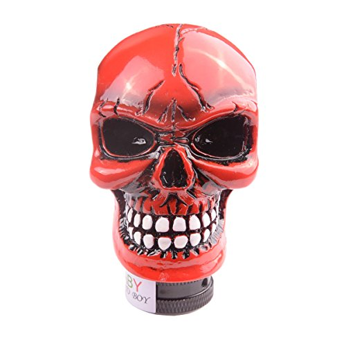 (AutoBoy ABy Skull Head Gear Stick Shift Shifter Knob Lever Cover Universal Fit Most Manual transmission vehicles(Red))
