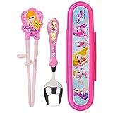 Secret Juju Chopsticks and Spoon Hard Case Set JJ4938 for Kids Over 3 Years Old, Pink